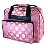 "Sewing Machine Ringed Tote, 16.6""L x 8.5""W x 12""H, Pink"