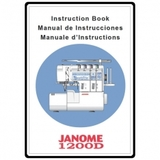 Instruction Manual, Janome 1200D