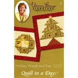 Holiday Wreath and Tree Pattern Eleanor Burns Quilt in a Day