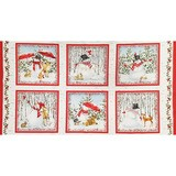 Sheltering Snowman, Snowman Fabric Panel