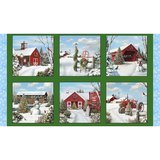 Tis' the Season Fabric Panel (Green) - 24in