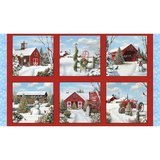 Tis' the Season Fabric Panel (Red) - 24in