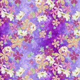 In the Meadow Purple Forest Fabric