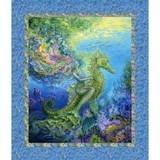 Mystic Ocean Mermaid Fabric Panel - 36in