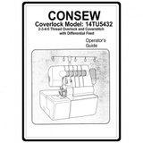 Instruction Manual, Consew Coverlock 14TU5432