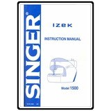 Instruction Manual, Singer 1500 Izek