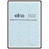Instruction Manual, Elna 1500