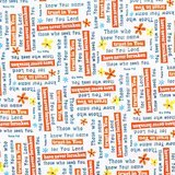 Quilting Treasures, Trust in You, Psalms Fabric, White