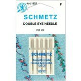 Double Eye Needle, Schmetz (5pk) Size 80/12