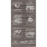 Moda, Homegrown, Distressed Wood Fabric Panel, Brown