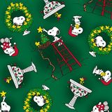Peace, Love, Joy, Snoopy Peanuts Christmas Fabric