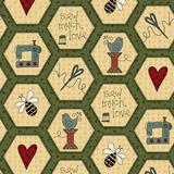 Henry Glass, Home Spun, Honey Comb Fabric