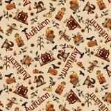 Henry Glass, Buttermilk Autumn Toss Fabric
