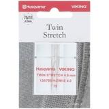 Viking Twin Stretch Needle, 4mm (130/705H) - Size 75/11