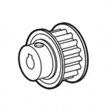 Motor Timing Pulley Assembly, Brother #S52836000