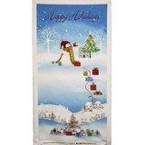 Tis the Season, Happy Holidays Fabric Panel