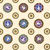 Faith, Medallion Toss Fabric - Cream