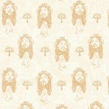 Faith, Jesus Allover Fabric - Cream