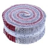 Moda Fabrics Fleur de Noel Jelly Roll - 40pc
