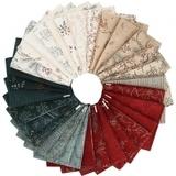 Moda, Warm Winter Wishes Fat Quarter Bundle and Fabric Panel (33pcs)