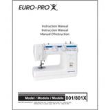 Instruction Manual, Euro Pro 801