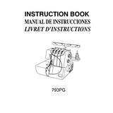Instruction Manual, Janome 793PG