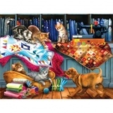 Quilting Room Mischief Jigsaw Puzzle