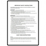Instruction Manual, Elna 3230