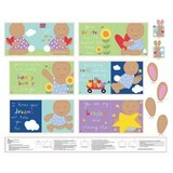 I Love You Honey Bunny Fabric Book Panel - 36in Wide