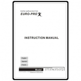Instruction Manual, Euro Pro 377