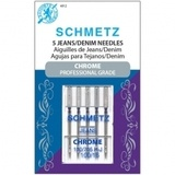 Chrome Denim/Jeans Needles, Schmetz (5pk)