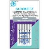 Chrome Microtex Needles, Schmetz (5pk)