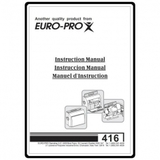 Instruction Manual, Euro Pro 416