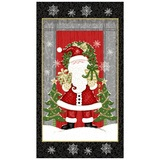 Studio E, Winter Greetings, Santa Claus Fabric Panel