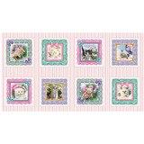Kitty Glitter, Blocks Fabric Panel