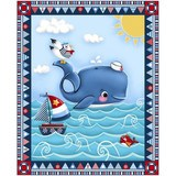 Studio E, A Whale of a Time, Sailing Fabric Panel