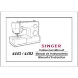 Instruction Manual, Singer 4452