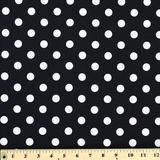 Moda Classic, Medium Dottie, Jet Black Fabric