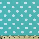 Moda Classic, Medium Dottie, Teal Fabric