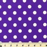 Moda Classic, Medium Dottie, Purple Fabric