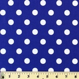 Moda Classic, Medium Dottie, Royal Fabric
