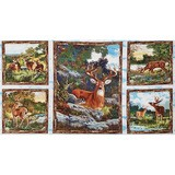Wilmington, Sanctuary Deer Fabric Panel