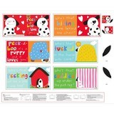 Huggable and Loveable, Peek-A-Boo Fabric Book Panel - 36in