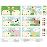 Huggable and Loveable, Llama Fabric Book Panel - 36in