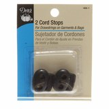 2pk Cord Stops, Black, Dritz