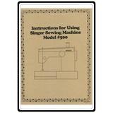 Instruction Manual, Singer 500