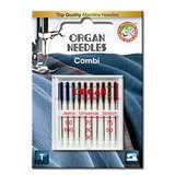 10pk Organ Needles Combi - Assorted 70-100