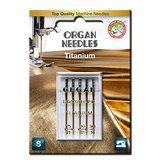 5pk Organ Titanium Needles (130/705H) - Assorted Sizes 75-90