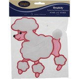 Poodle Skirt Applique - Sew-on