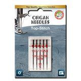 5pk Organ Top-Stitch Needles (130/705H) - 90/14